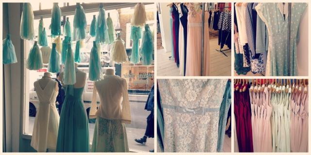 vintage pastel bridesmaids dresses